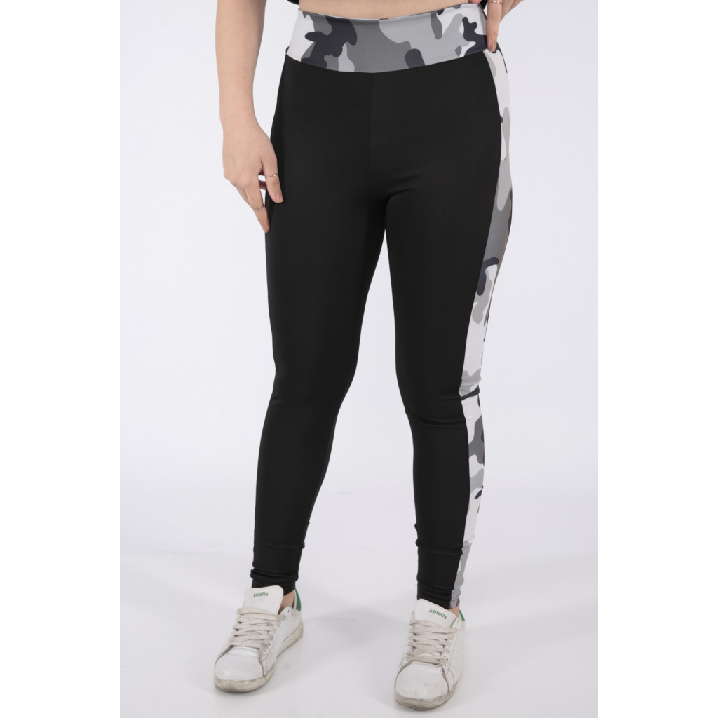Black sport trousers with grey-colored black Army