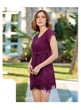 Elegant violet set with short, soft and attractive view