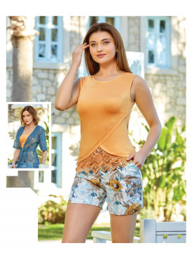 Women's three-piece fantasy set with soft, comfortable texture and charming view