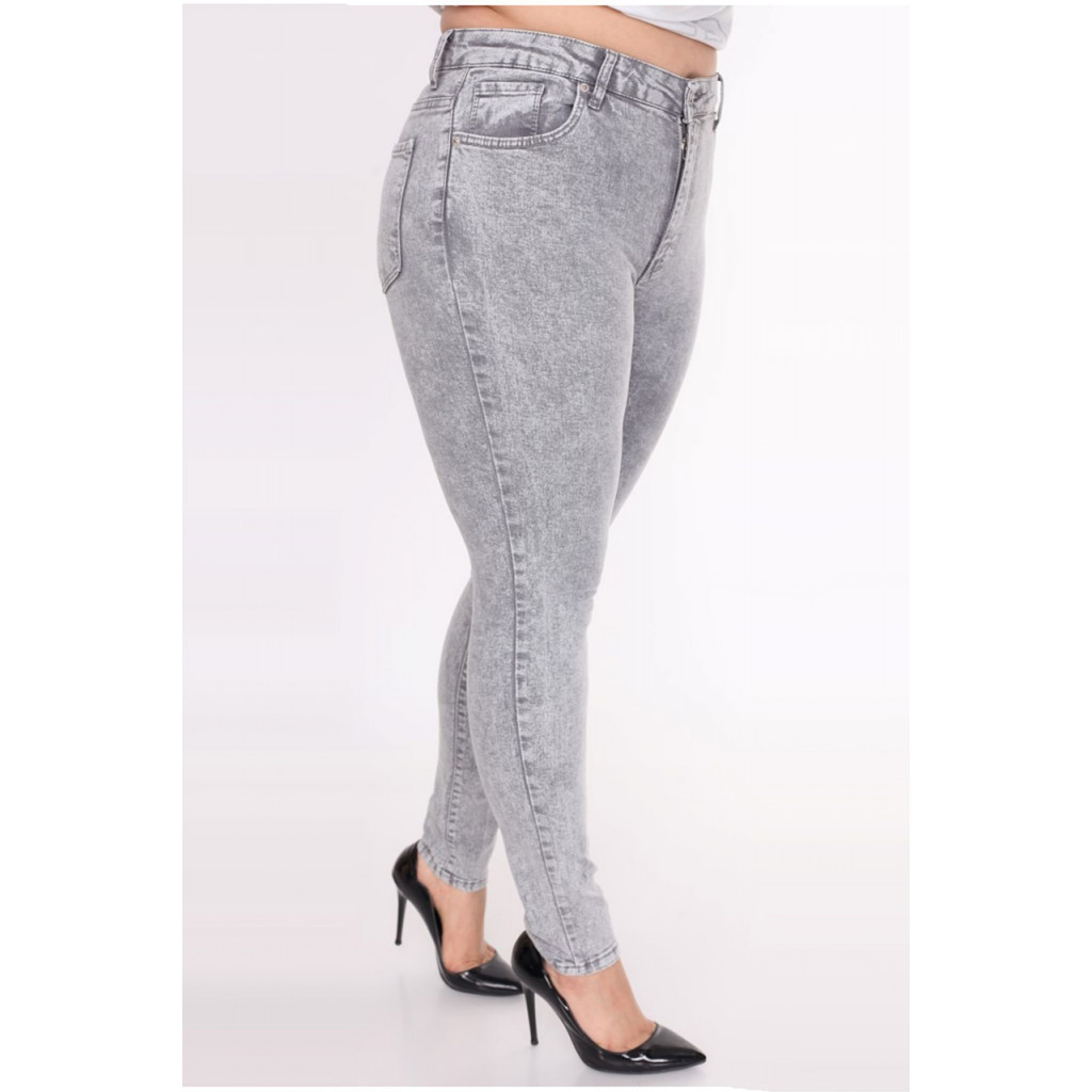 Grey jeans with simple, practical design