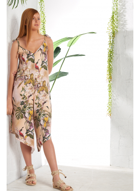 Elegant jumpsuit with flower prints with comfortable texture and attractive view