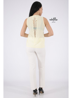 Light yellow top with soft design