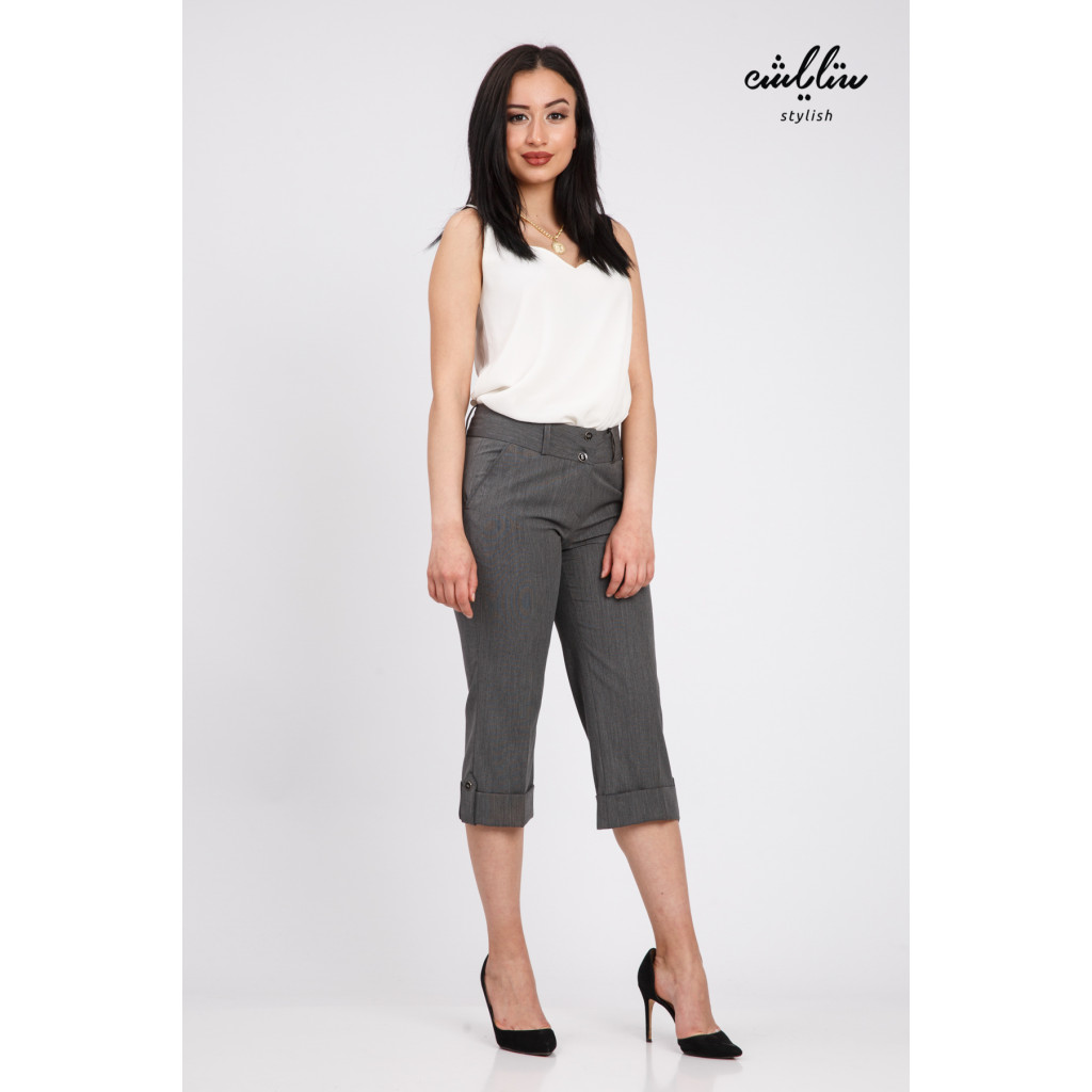 Hi West MIDI Trouser with grey color gives attractive look