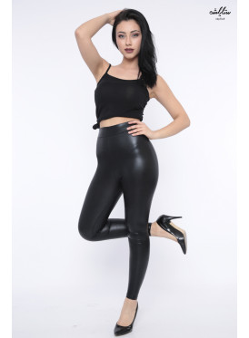 Very attractive and elegant trousers with soft rubber leather