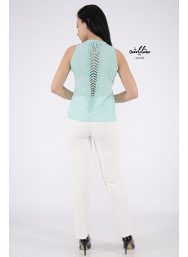 Light green top with soft design