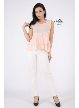 Stylish pink backless blouse with elegant and distinctive design
