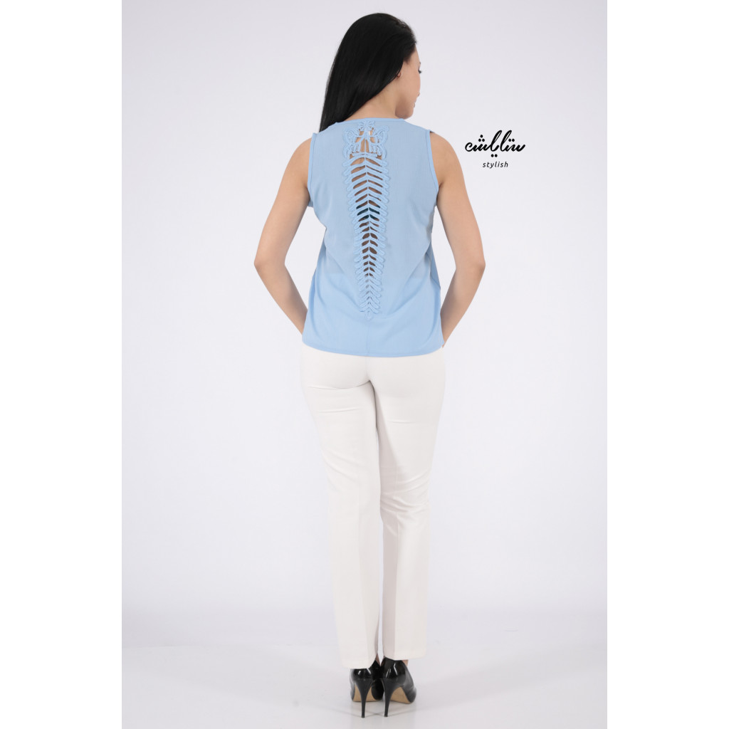 sky color Top with soft design