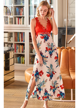 A very smooth and elegant dress with a comfortable, soft and cool on the skin