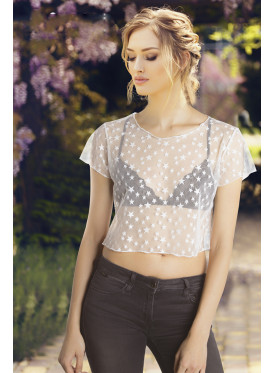 Short transparent T-shirt style with attractive soft design